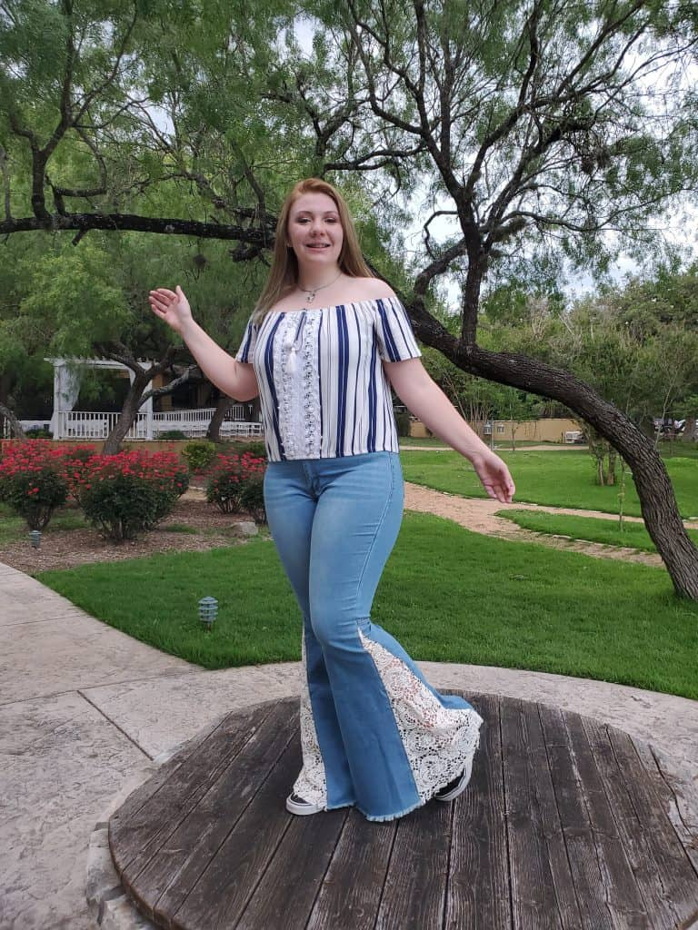 Bryanna outside for Senior pictures