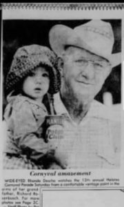 News Clip of Poppy and I in 1977 at the Helotes Parade