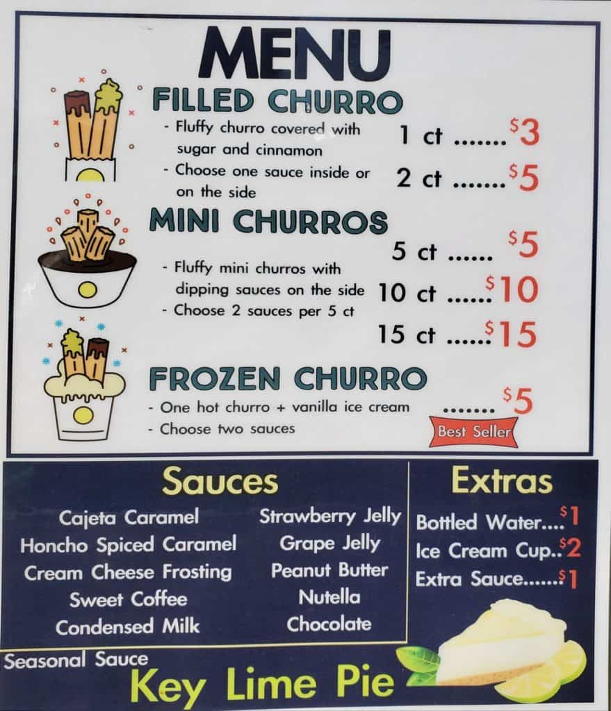 honchos house of churros menu