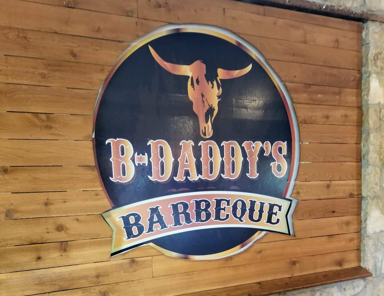 B-Daddy's BBQ logo sign